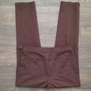 Chicos zip up brown dress pant trousers